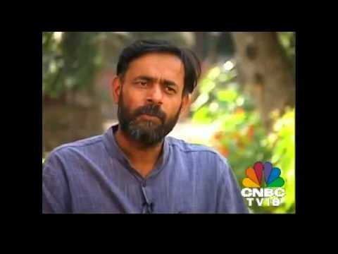 Yogender Yadav talking about Gujarat Development.