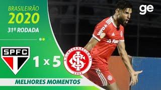 SÃO PAULO 1 X 5 INTERNACIONAL | MELHORES MOMENTOS | 31ª RODADA BRASILEIRÃO 2020 | ge.globo