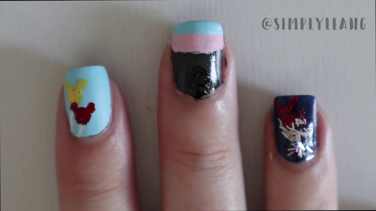 Disneyland Anniversary Nail Art Simply Leah G Youtube
