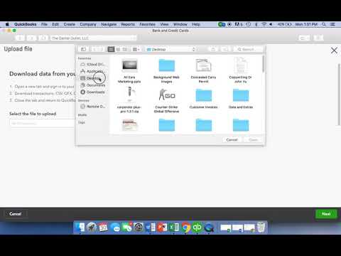 How to upload Quickbooks transactions manually - YouTube