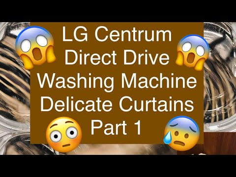 LG 12KG  Direct Drive Washing Machine, Delicate Curtains, Part 1