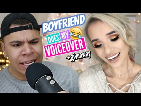 BOYFRIEND DOES MY VOICEOVER + HUGE GIVEAWAY!