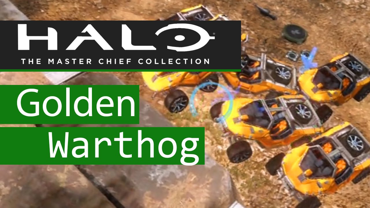 Halo Master Chief Collection Gold Warthog