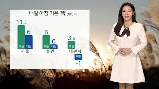 [날씨] 내일 올가을 들어 가장 쌀쌀…출근길 서울 6도…