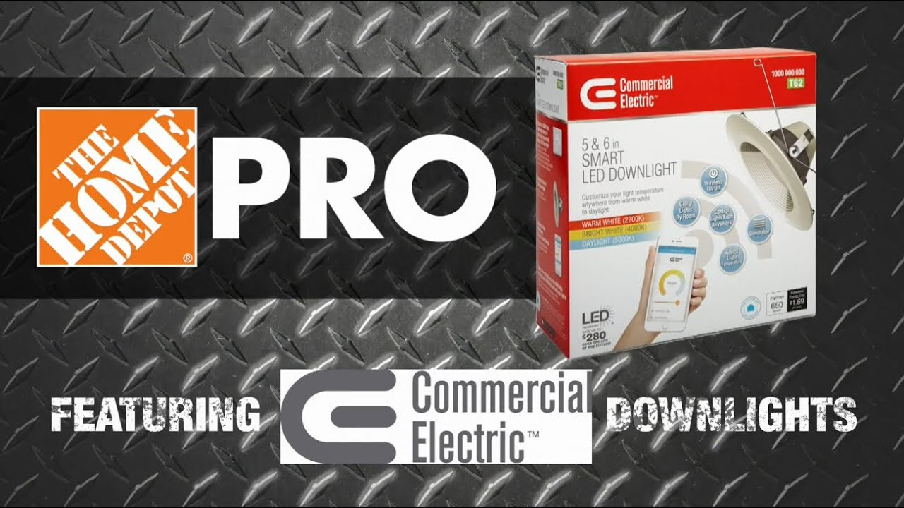 check out 4b0c3 7cba7 Commerical Electric Smart LED Downlight - The Home Depot