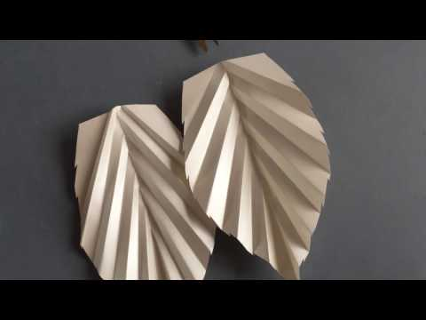 How To Make a Paper Rose LEAF / DIY Tutorial