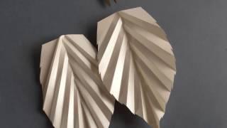 How To Make a Paper Rose LEAF / DIY Tutorial