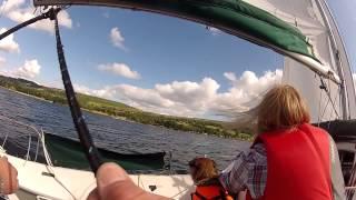 Sailing on Ullswater 2014 Eagle 525