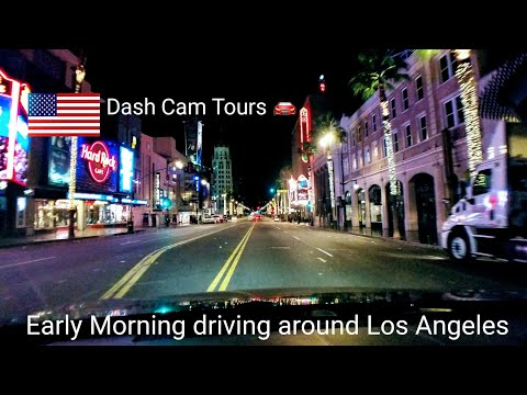 Dash Cam Tours 🚘 Early Morning driving around Los Angeles. Car Stereo On