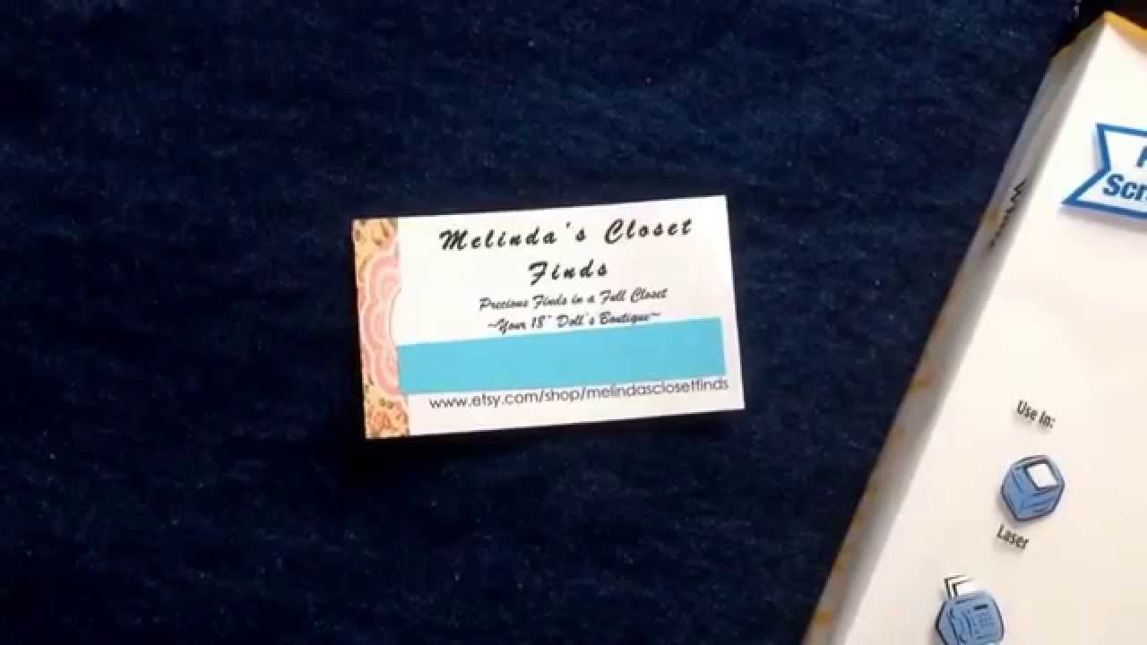 Etsy Store Tip #2 - Make Your Business Cards - YouTube