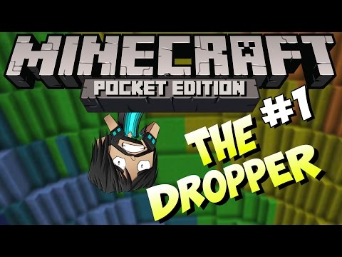 Minecraft PE (Pocket Edition) : The Dropper - Part 1 - Long Ladder Climbs!