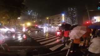 GoPro: Walking down the street while raining