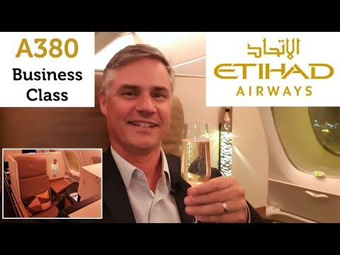 Etihad Business Class on the A380