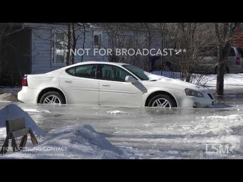 02-09-19 Moline, IL Frozen Rock River Flooding, Ice Jams