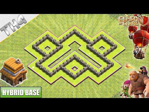 Town Hall 4 (TH4) Base With COPY LINK 2019 - Clash Of Clans