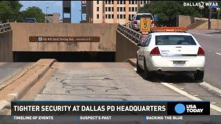 Dallas police ramp up security following shooting