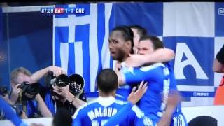 Drogba goal vs Bayern Munich - Martin Tyler and Gary Neville Commentary