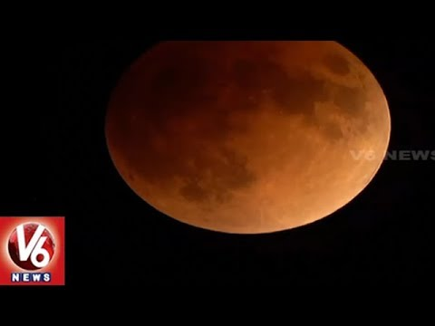 Exclusive Visuals Of Super Moon | Super Blue Blood Moon Lunar Eclipse | V6 News