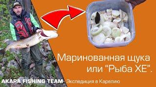 Готовим маринованную щуку (рыбу хе) в полевых условиях. Рецепт от Максима Ефимова.