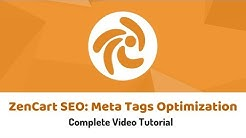 Zencart SEO: Meta Tags SEO for Zencart Products and Categories