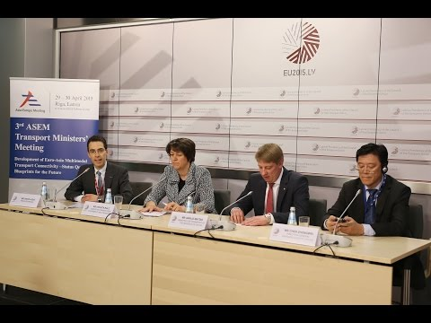 Press conference following the 3rd ASEM Transport Ministers' Meeting, 30 April 2015