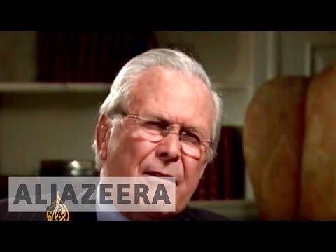 Rumsfeld in heated conversation with Al Jazeera