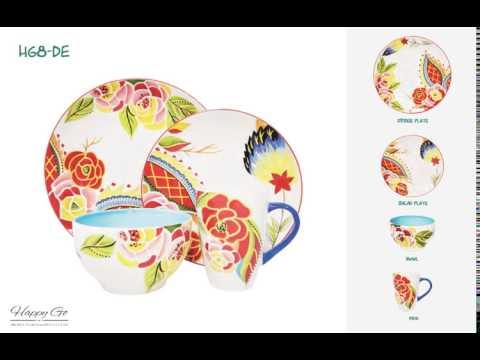 16pcs Decal  handpainting beautiful dinnerware set wholesell new design