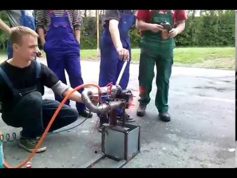HOMEMADE TURBOJET ENGINE FIRST TEST