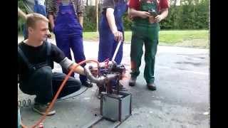 HOMEMADE TURBOJET ENGINE FIRST TEST