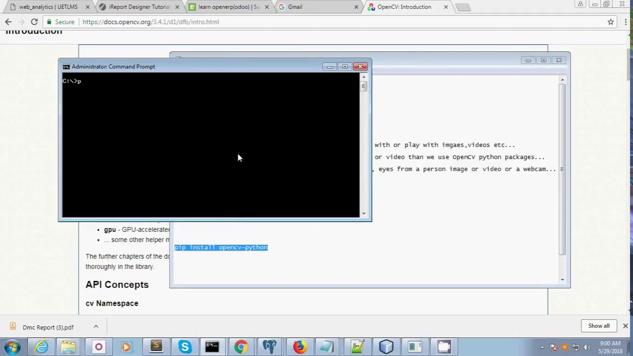 pip install opencv python