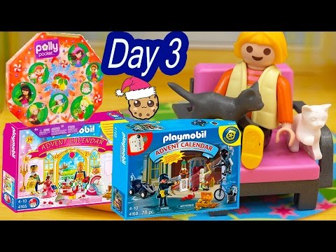 Polly Pocket, Playmobil Holiday Christmas Advent Calendar Day 3 Toy Surprise Opening