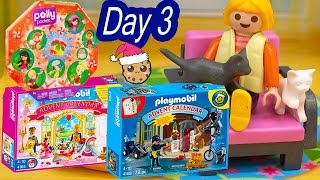 polly pocket playmobil holiday christmas advent calendar day 3 toy surprise opening