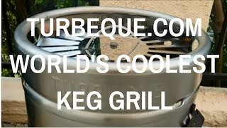 Turbeque World's Coolest Keg Grill. Grand Champion Pitmaster Harry Soo SlapYoDaddyBBQ.com