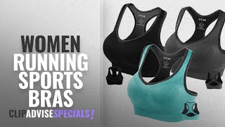 10 Best Women Running Sports Bras : Fittin Womens Padded Sports Bras Wire Free with Removable Pads