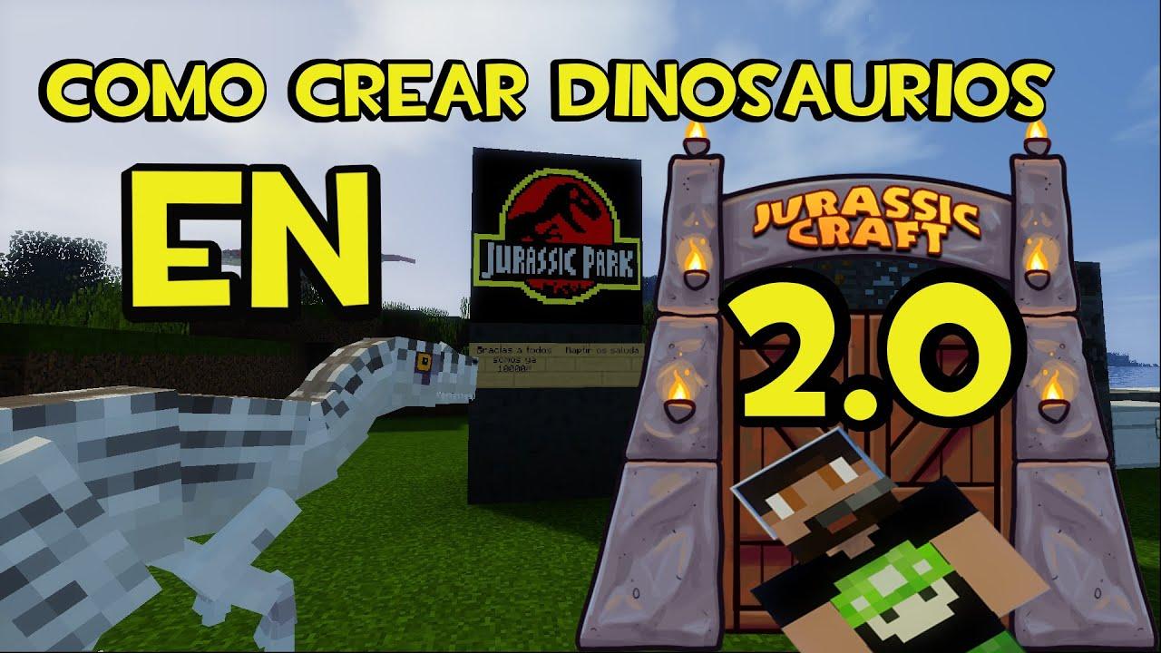 Jurassic Craft 2 0 - COMO CREAR DINOSAURIOS PASO A PASO