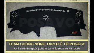 [PoSaVoTV] - Thảm Chống Nóng Taplo Ô Tô PoSaTa Cao Cấp