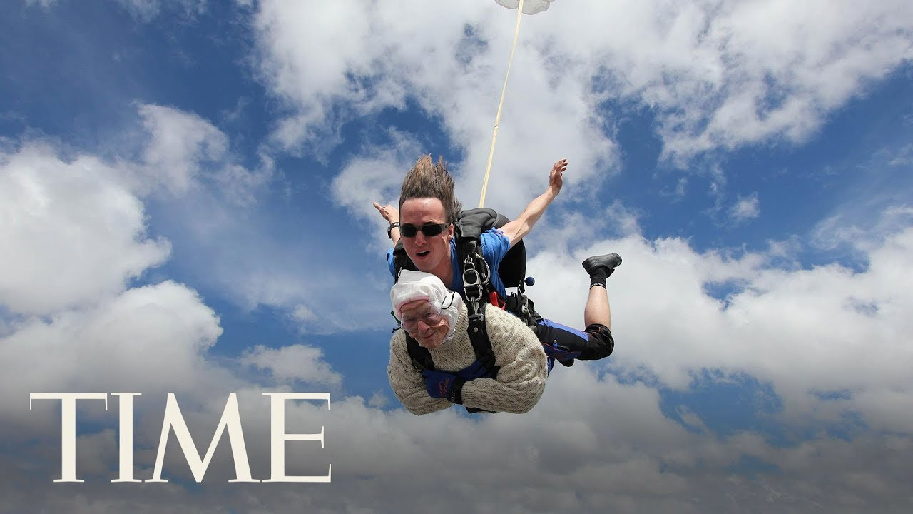 Fearless 102-Year-Old Woman Just Became The World's Oldest Skydiver | TIME