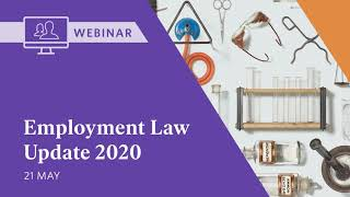 Webinar: Employment Law Update 2020