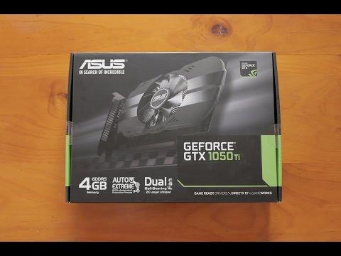4GB Asus GTX 1050Ti Phoenix Edition Unboxing
