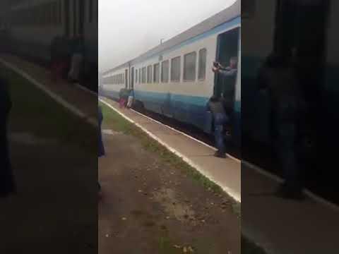 Приехали: на Закарпатье пассажирам пришлось толкать поезд