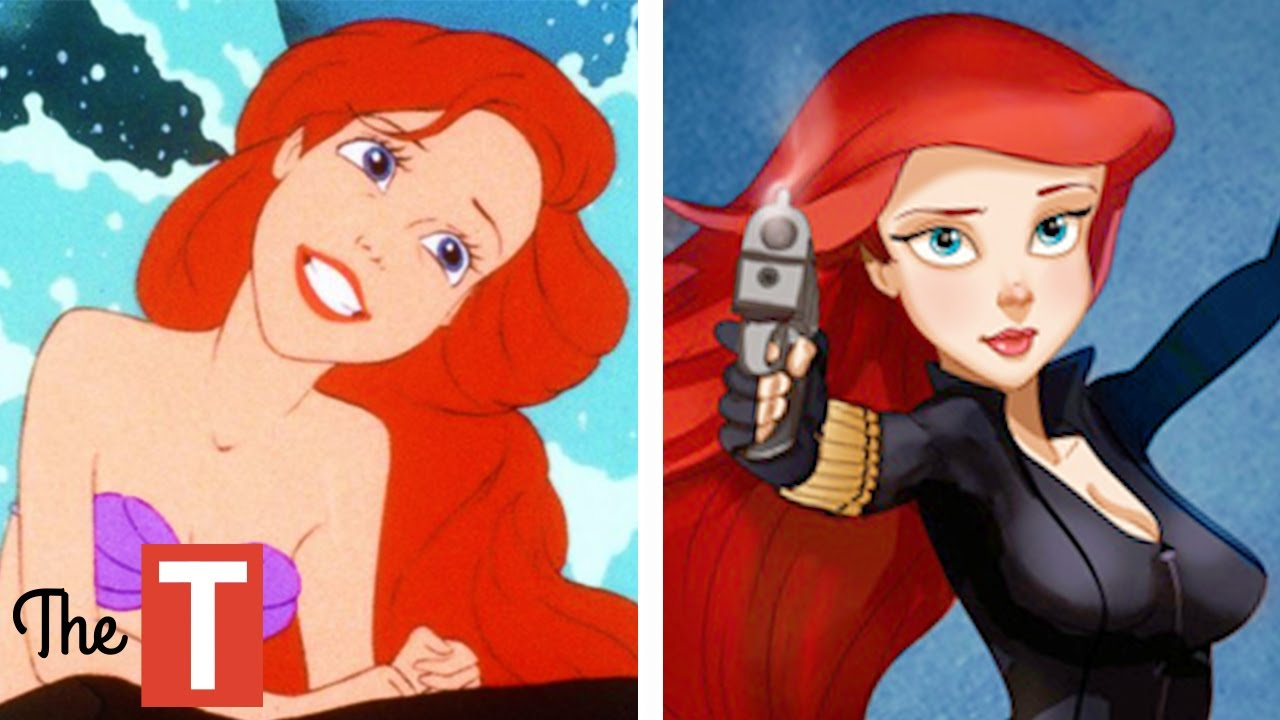 10 disney princesses reimagined as different characters