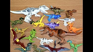 30+ Lego Jurassic World Dinosaurs Toys 30 Colorful Hybrid Indominus Rex,  T-Rex