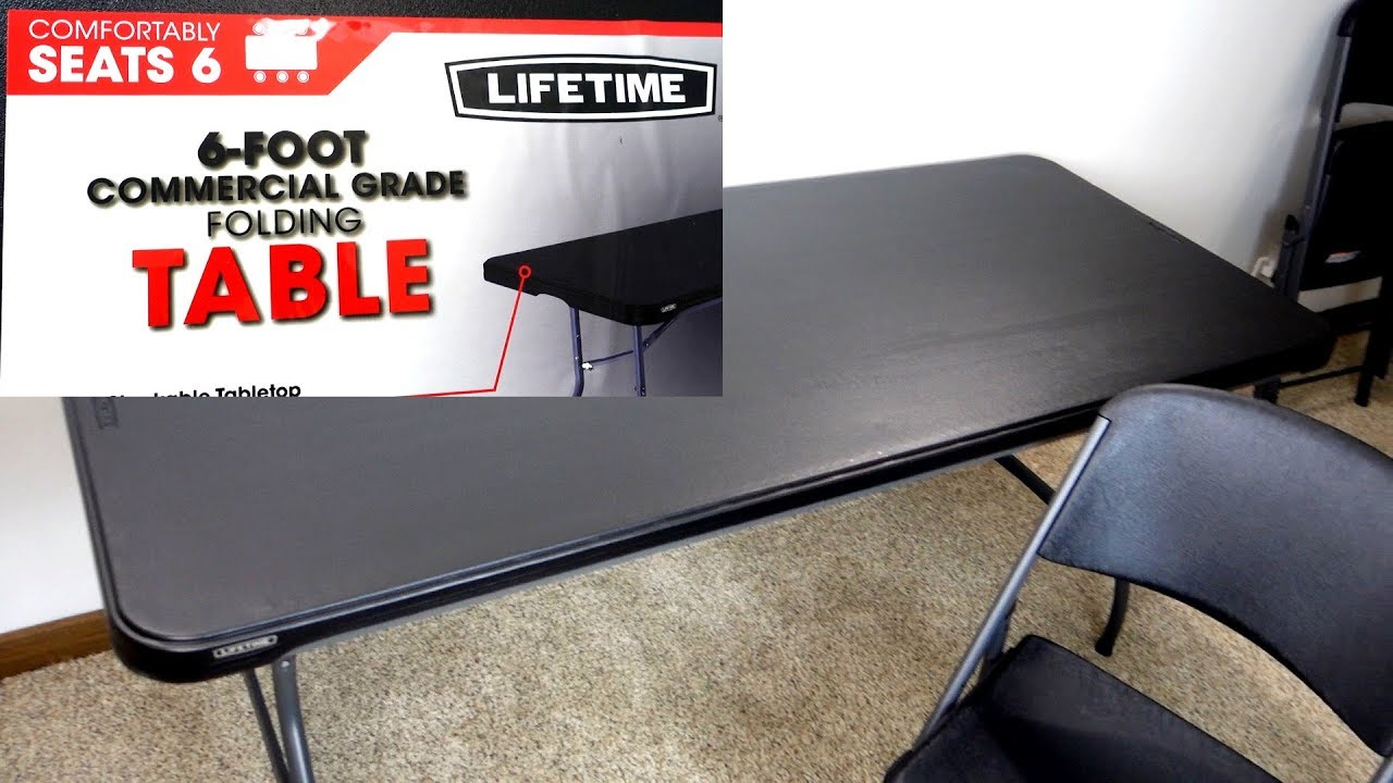 - Lifetime 6-Foot Commercial Grade Folding Table Review - YouTube