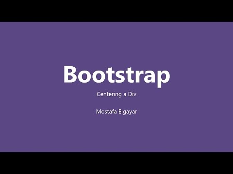 How to Center a Div in Bootstrap