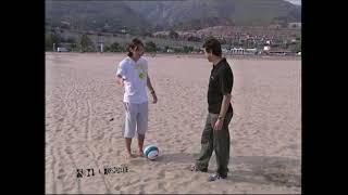Messi en la playa en Sin Cassette