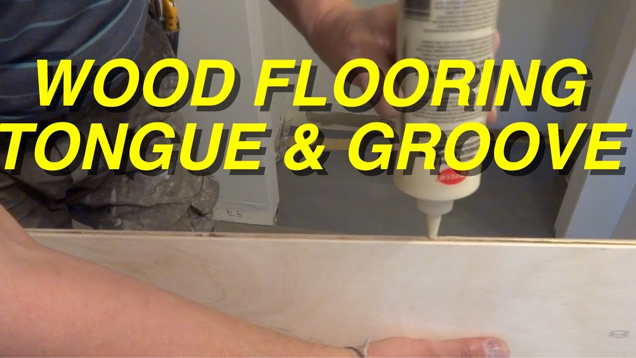 Tongue And Groove Wood Flooring Installation In A Hallway How To