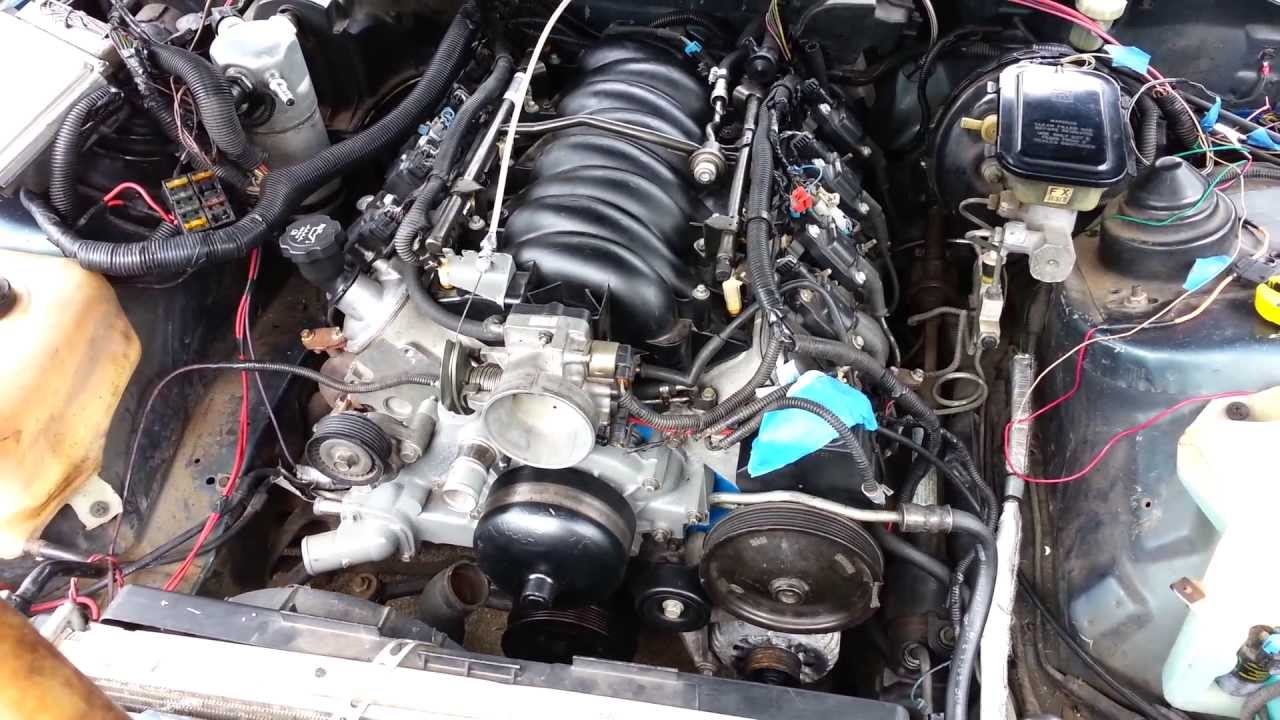 5 3 lsx squirter in the 92 camaro first start up 8 18 13 Wiring today #10