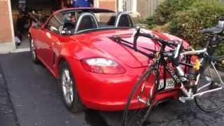 Bike rack for Porsche Boxster(You don't have to buy a 500 dollar bike rack for your Porsche Boxster. I am using a 60 dollar bike rack I bought from Canadian Tire. It works flawlessly, went on a ..., 2014-05-20T02:11:57.000Z)