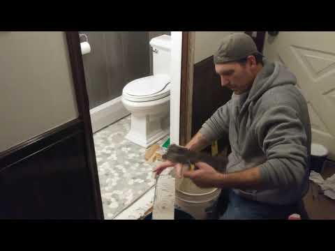 #Howto #Diy #Install a Marble Threshold / #Bathroom #Remodel