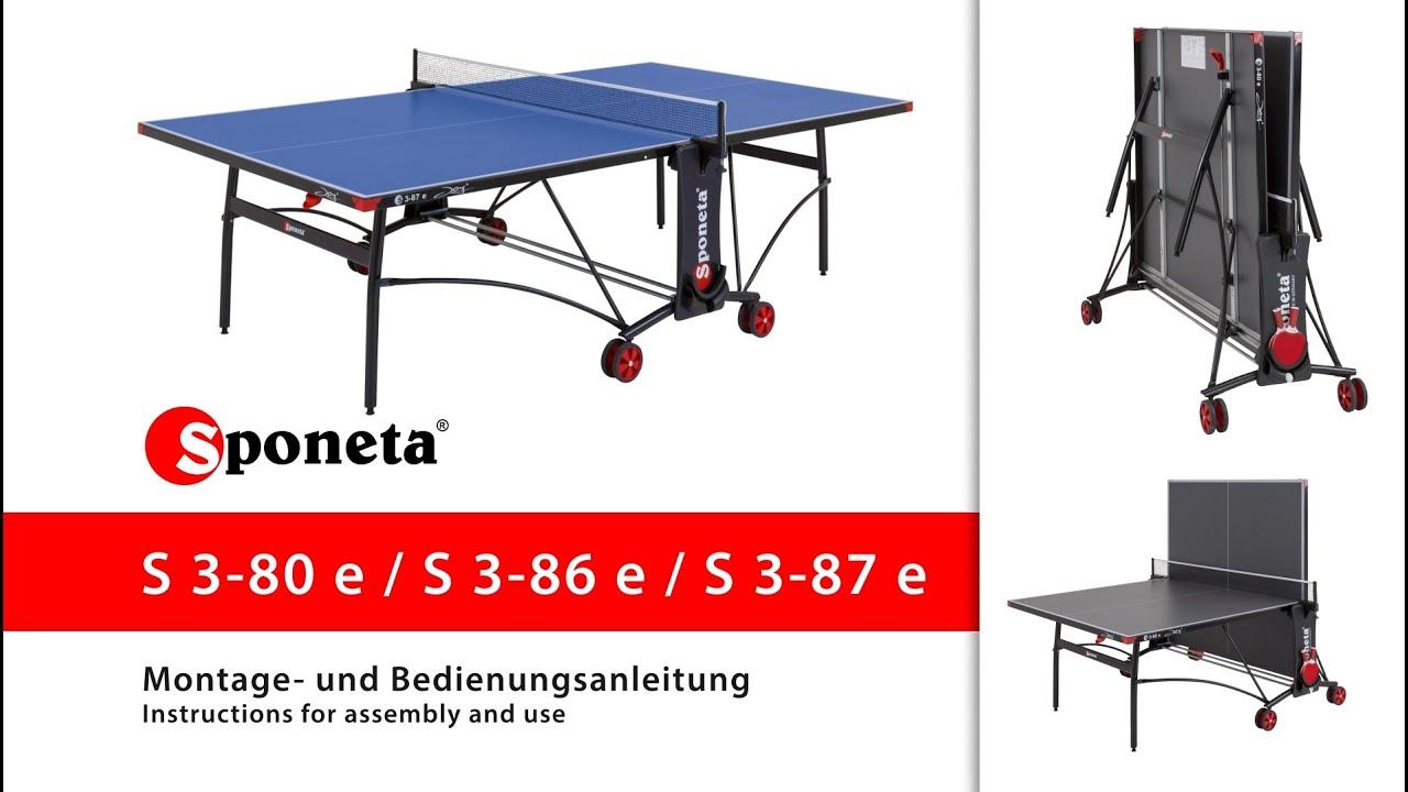 216799f6a Sponeta S 3 80 86 87 E Montageanleitung Tischtennistisch. Kettler Cologne Outdoor  Table Assembly. Kettler Cologne Outdoor Ping Pong Table